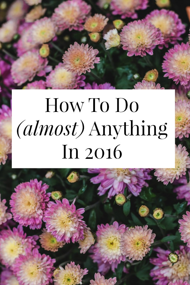 how to do anything in 2016