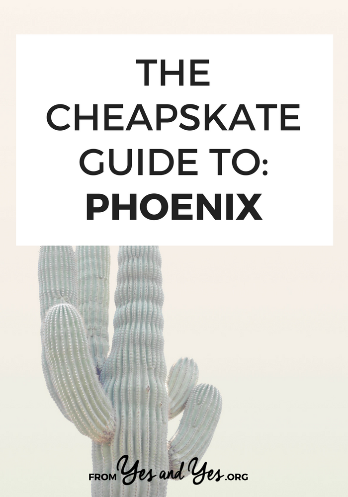 There are so many awesome, cheap things to do in Phoenix! $3 movies, $4 burritos and $26 rooms with a pool! // yesandyes.org