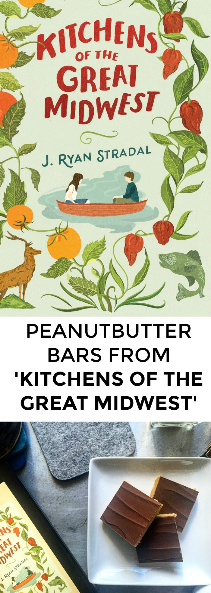 Looking for recipes from Kitchens Of The Great Midwest? Want a great recipe for peanut butter bars? Click through for a great recipe inspired by this best-selling novel!