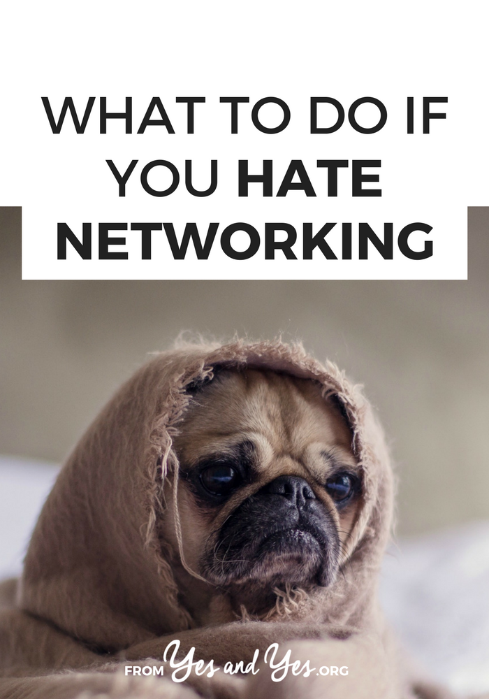 Do you hate networking? ME TOO. But when we shift our mindset from 'getting' to 'giving' things get soooo much easier. Click through for different ways you can by helpful and connect with the people you admire! >> yesandyes.org