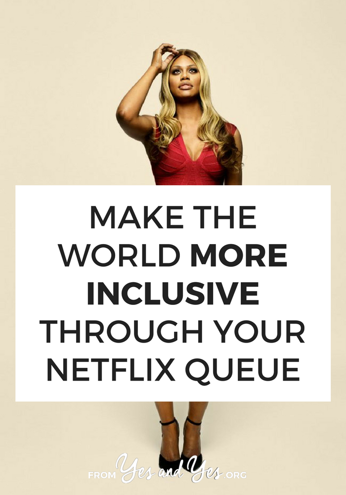 Want to see more inclusive tv shows? Watch shows that are created by + star people who are different than you. When we watch shows like this, we're telling networks + advertisers to make more!