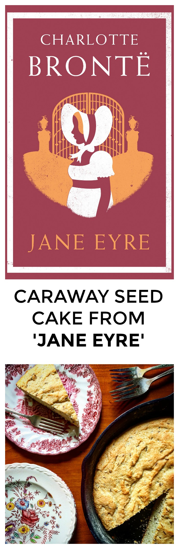 Want a great recipe from Jane Eyre? One that will help you win book club even if you didn't finish the book? Click through for this easy, delicious recipe for Caraway Seed Cake! >> yesandyes.org