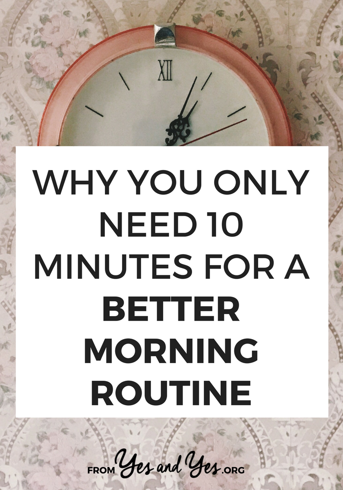 You can have a better morning routine, be more productive, more creative, and more focused just by changing how you spend the first 10 minutes of your day! Click through for a clever productivity tip you haven't heard before!