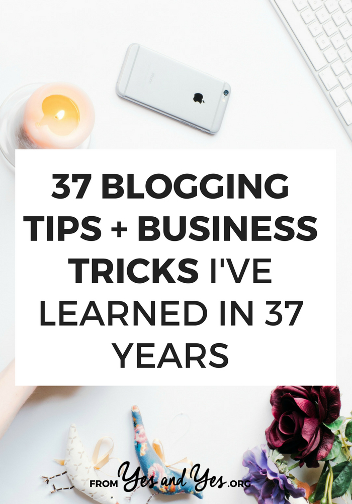 What sort of blogging tips do you learn from 9 years of blogging? What business tricks do you learn from working with hundreds of clients? In celebration of my 37th birthday, a huge round up of business advice! >> yesandyes.org