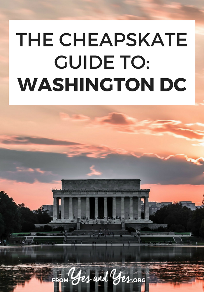 Looking for cheap things to do in Washington DC? Look no further! Our country's capital is infamously expensive but this guide will point you towards $30-a-night hostels, $11 bottomless mimosas, and free museums + movies! Click through for the details! >> yesandyes.org