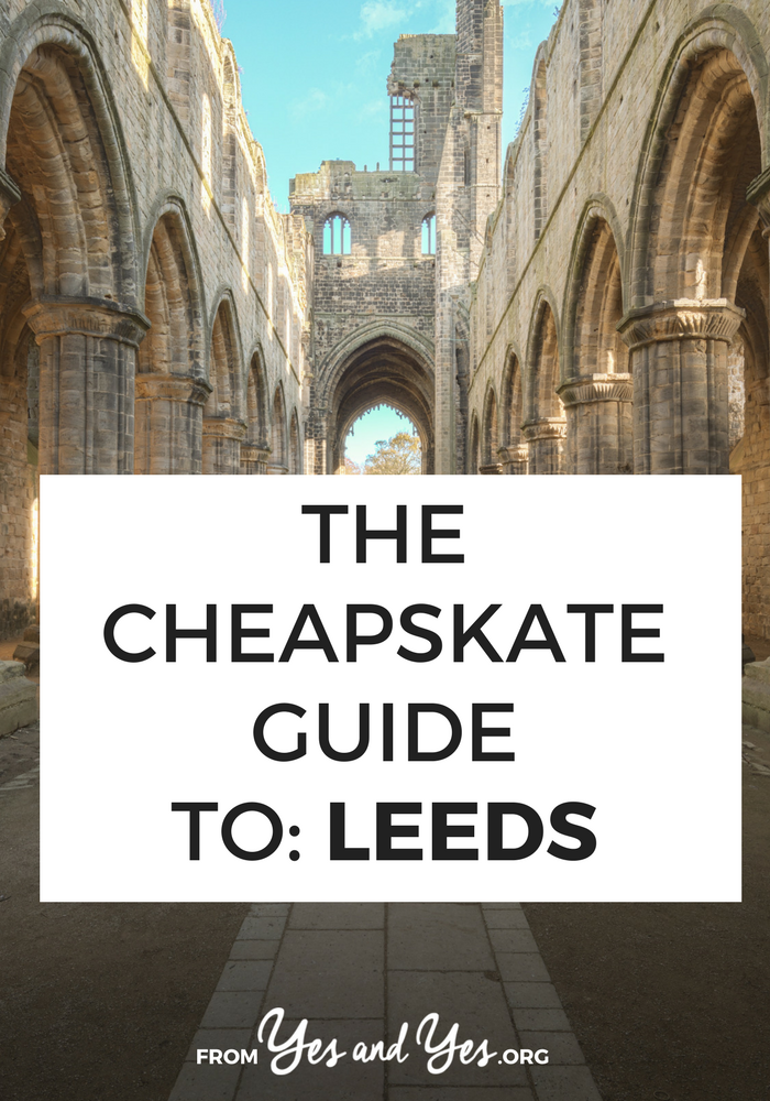 Looking for budget travel tips for Leeds? Click through for a local's best Leed's cheap travel secrets:  cozy rental cottages for $42 per night, $1.50 pizza slices, free pub quiz nights, and cheap beer! #leeds #cheaptravel#budgettraveltips