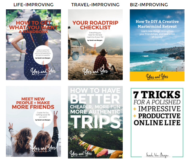 10 free ebooks! Access this amazing library of resources - travel ebooks, books about relationships, making friends as adult, managing your finances better, tons of great stuff - all free! Click here to get access >> yesandyes.org