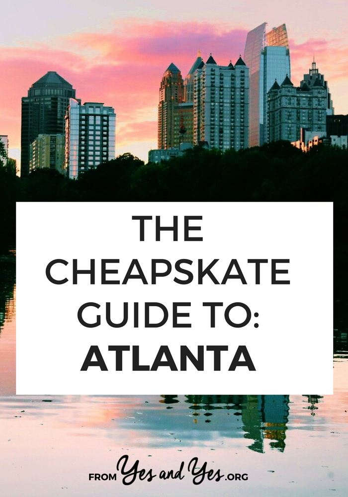 Want to travel cheap in Atlanta? Click through for tips on $15 camping, $1.95 biscuits, $10 river tubing, and free Walking Dead tours! >> yesandyes.org