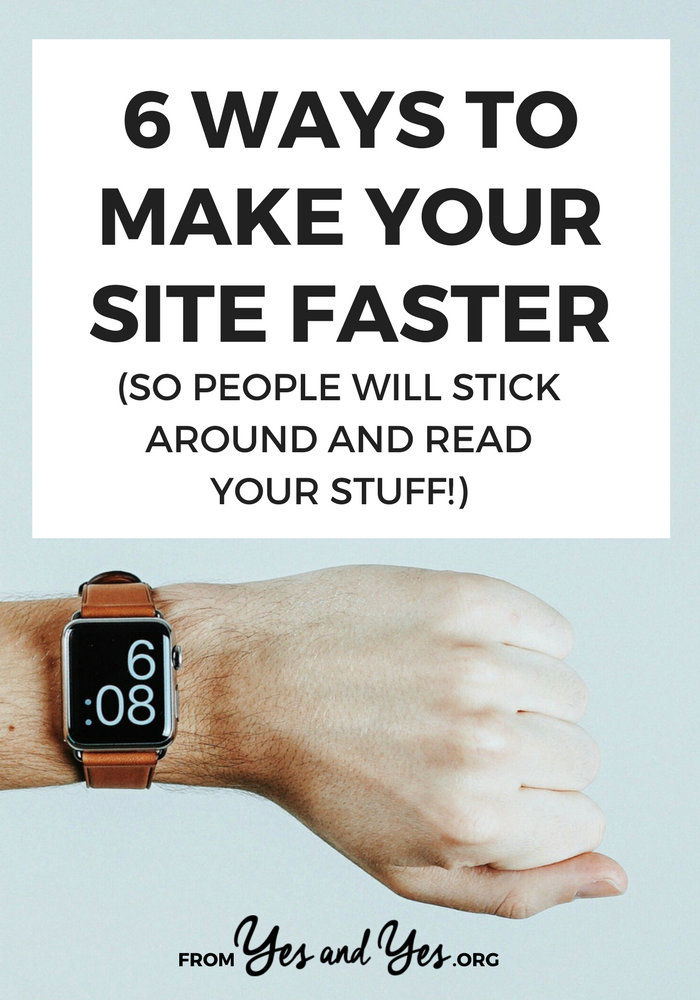 Why should you try to make your site faster? Well, for one thing people only wait TWO SECONDS for a site to load before they click away! Click through for 6 tips on what to delete, what to back up, and which plugin to install! >> yesandyes.org