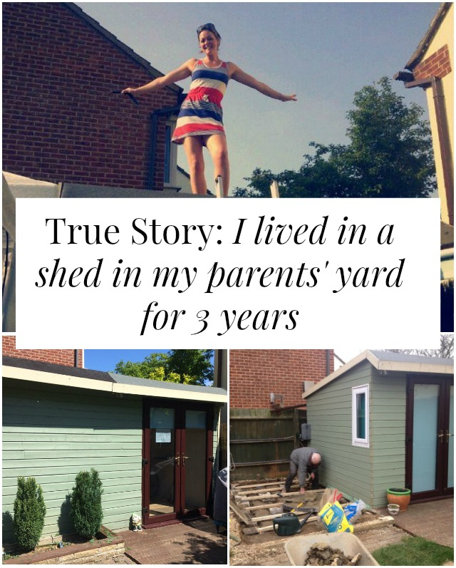 We could call it tiny house living ... but it was more like a shed. Rachel shares she story of how she came to live in a 10' x 10' shed in her parents' backyard! Click through to read more!