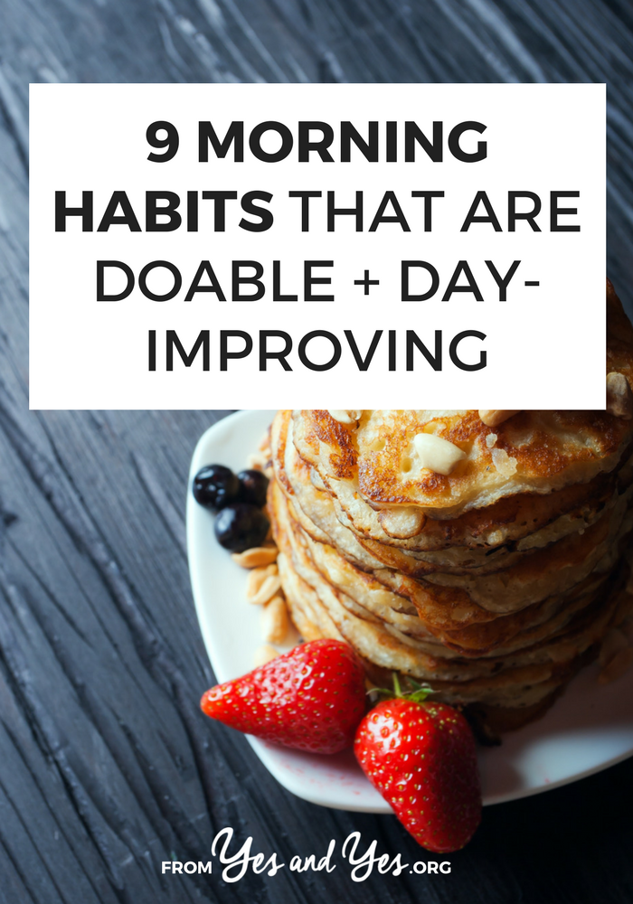 Looking for morning habits that will set you up for an awesome day? Can the right morning routine set up your whole day for success? Absolutely! Click through for 9 morning rituals that'll improve any day!