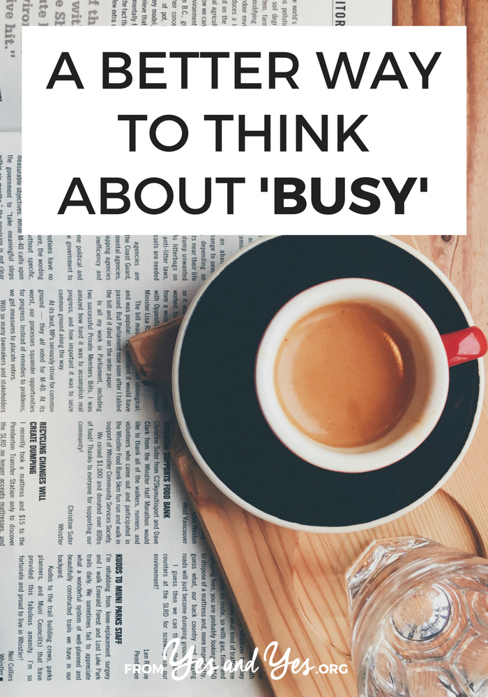 This is not a post of productivity tips. If you're looking for advice on scheduling or how to be less busy, this is not the post for you. I'm just suggesting you change your mindset.