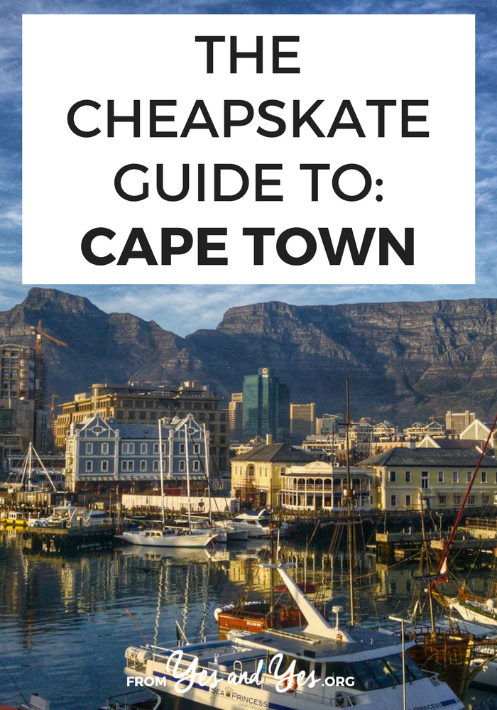 Cape Town is gorgeous and so, so affordable if you're on the dollar or pound! South African Sarah tells us about boutique hotels for $15 a night, $7 three course meals, and $2 per winery wine-tastings! Not to mention the beaches and penguins! Click through for all sorts of helpful, interesting travel suggestions! – yesandyes.org