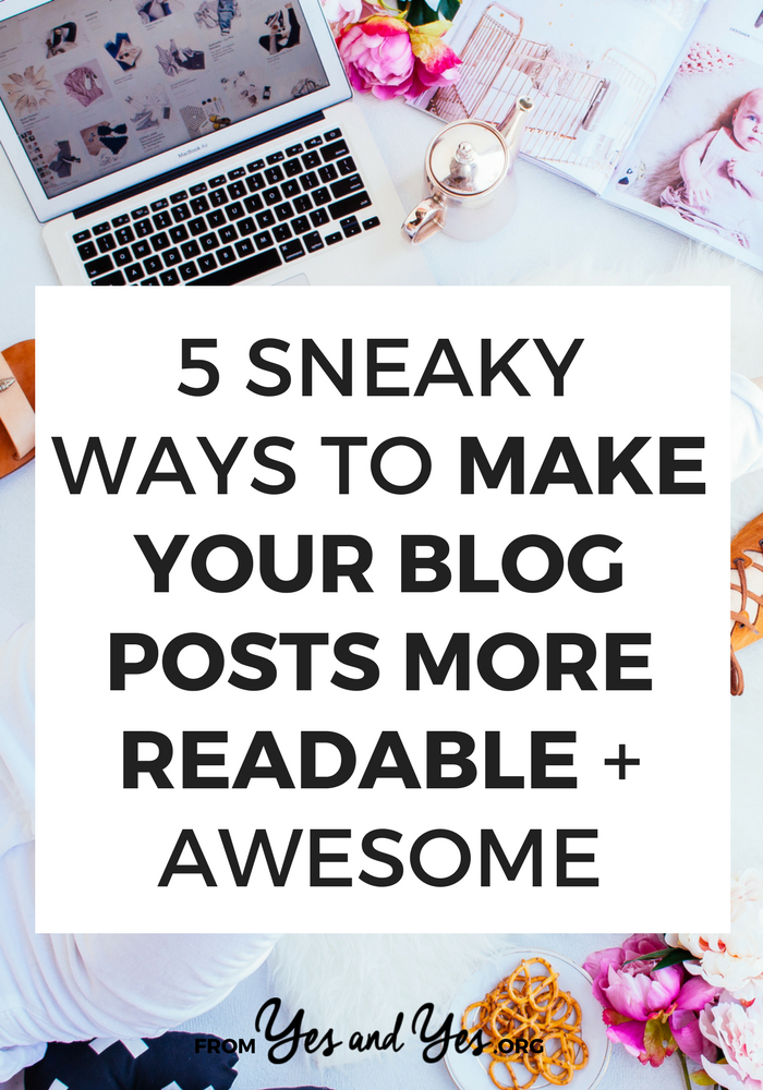 Want to make your blog posts more readable? Reduce your bounce rate and increase engagement? Making your blog posts easier to read is surprisingly easy - click through and start now!