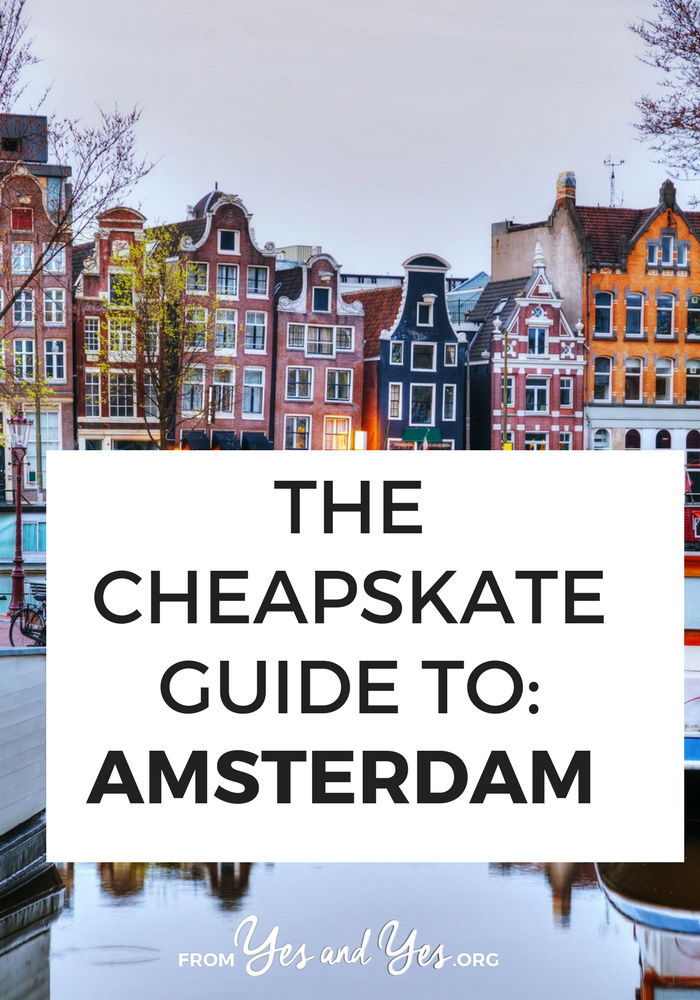 Cheap Amsterdam! It's possible! Tips from a local on cheap food, affordable lodging, and free/cheap activities in Amsterdam. Click through if you're planning a trip to Amsterdam!