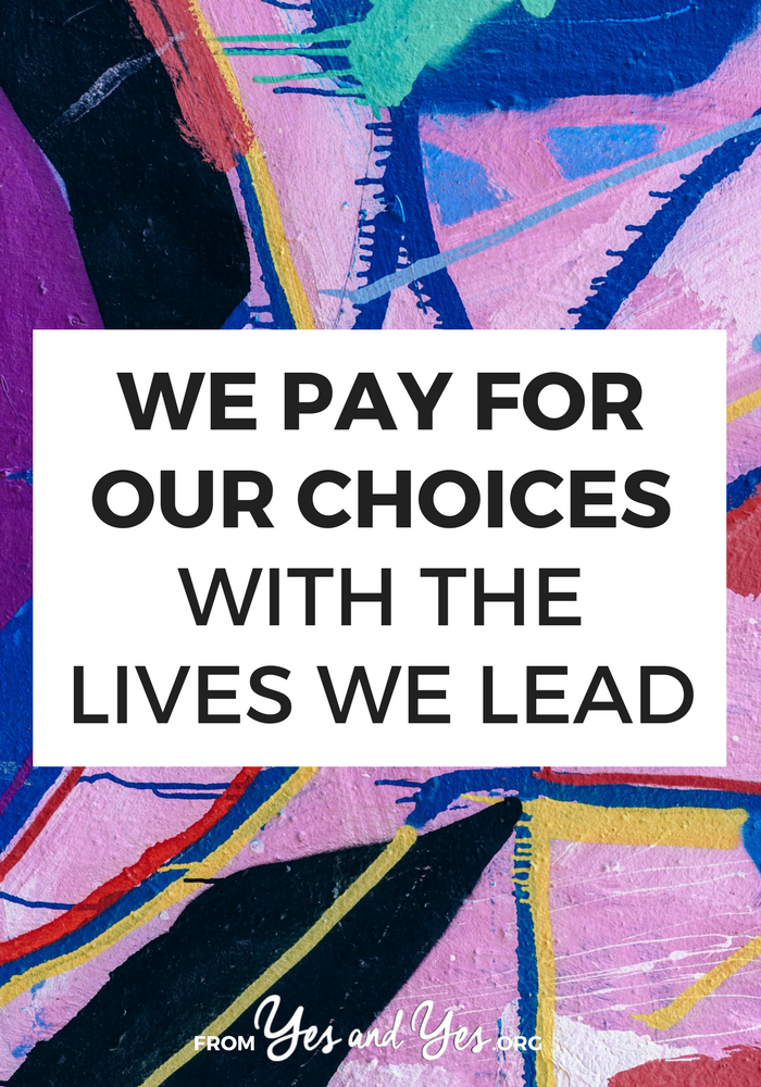 Do you pay for your choices? How do you habits show up in your daily life? What we do every day become our daily lives ... so let's choose accordingly. #selfdevelopment #selfhelp #habits #motivation #productivity