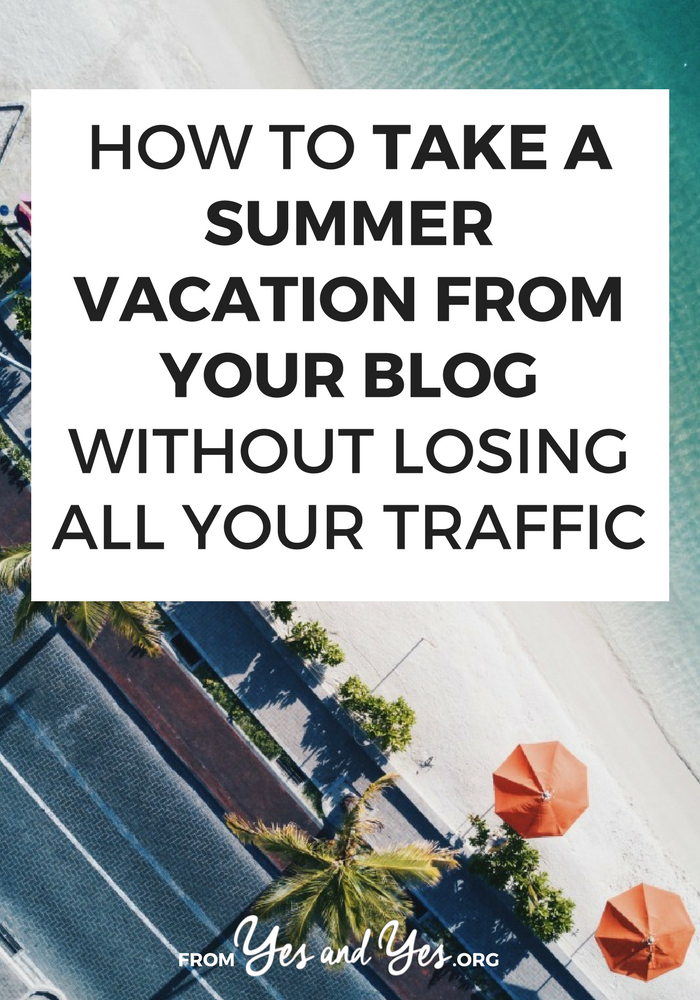 Want to take a blogging break? Put your blog on vacation? You can do it - without losing all your traffic! Click through to find out how! #bloggingtips #bloggingbreak