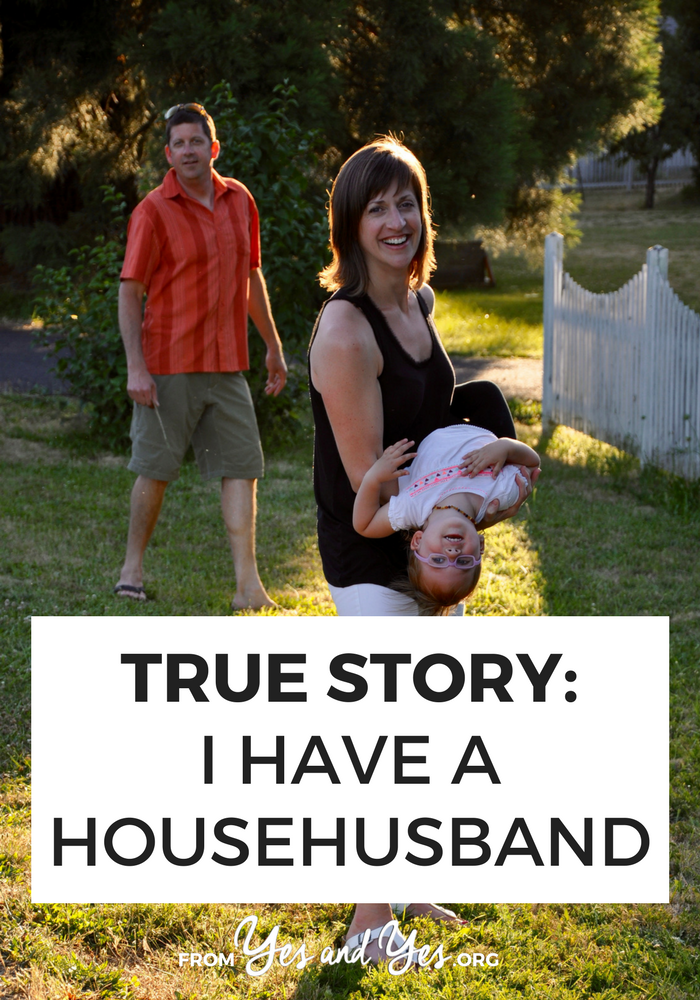 What would it be like to have a 'househusband' - a male partner whose primary responsibility was running the household? Click through for one family's story!