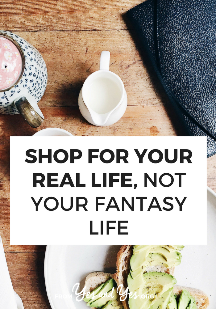 Looking for non-traditional budgeting tips? This surprising financial advice will save you hundreds of dollars! Read on for more tips about how to shop for your real life, not your fantasy life! #FIRE #moneytips #budgeting #personalfinance