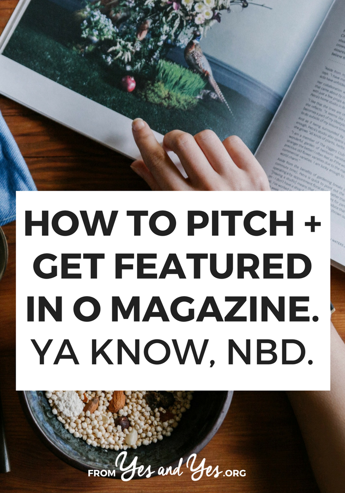 Looking for pr tips? Want to know how to get featured in magazines? Click through for tips that will get you featured in any magazine - even Oprah's!