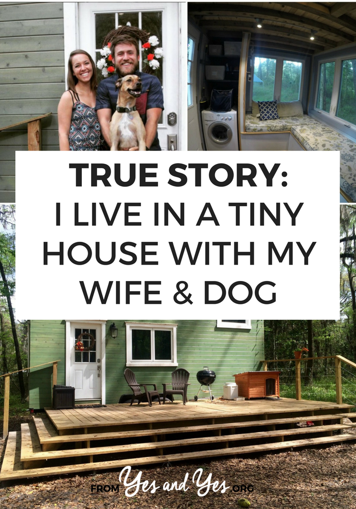 Can a couple live in a Tiny House and still like each other? This couple is! Click through for their tips on minimalism, small space living, and how to live in a Tiny House with a dog!