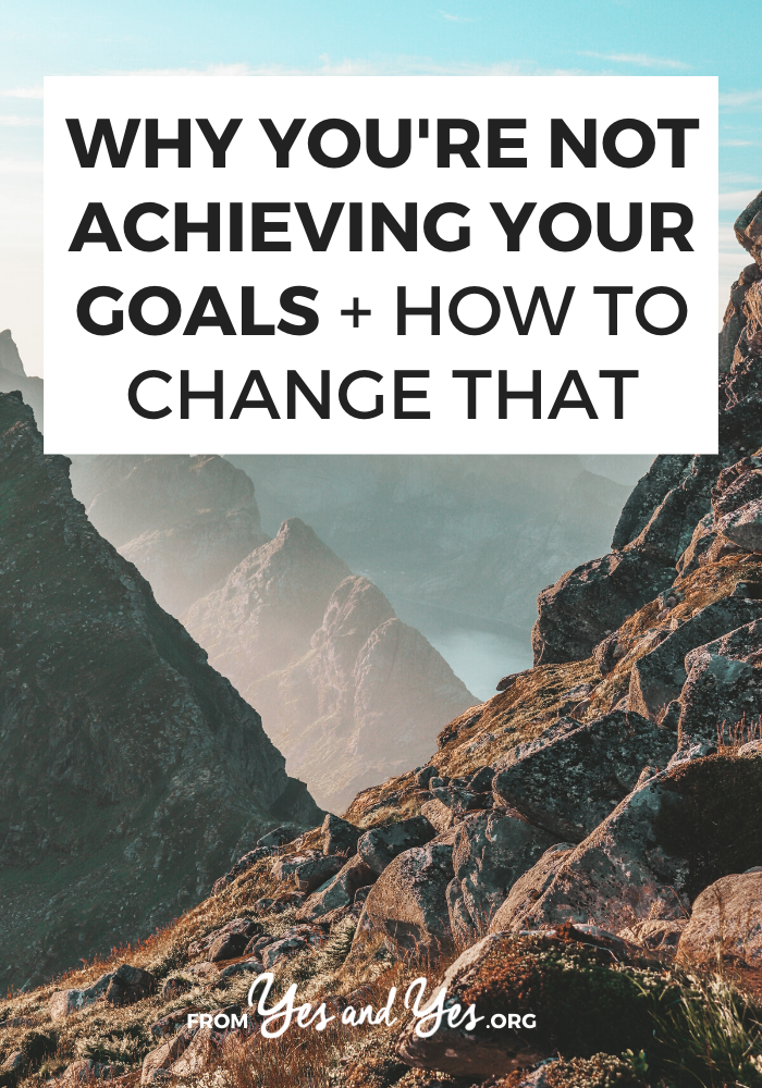 Looking for goal setting tips? Want to keep your resolutions for this year? Then make sure you're not make this goal setting mistake. Tap through to find out if you are! #goalsetting #habits #resolutions #motivation