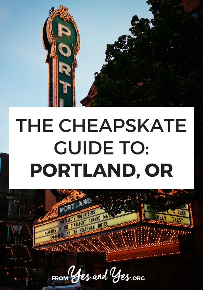 What to travel cheaply in Portland? Read on for Portland travel tips from a local on the best, cheapest food to eat, things to do, and places to go! #cheaptravel #budgettravel #Portland #oregon #oregontraveltips
