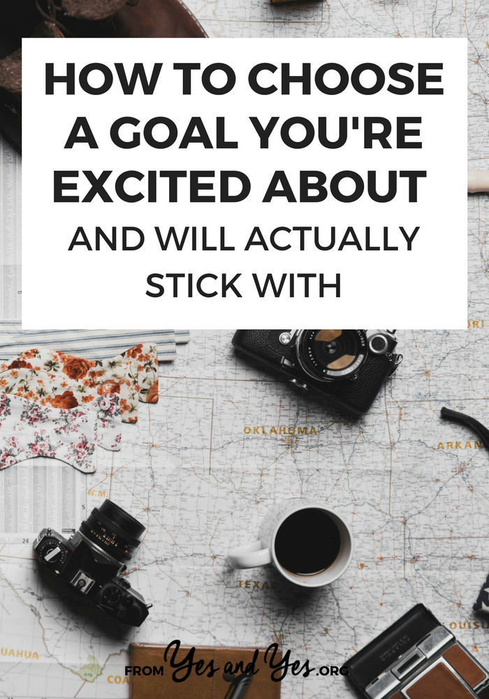 Not sure how to choose a goal to pursue? Struggling to achieve your goals? Tap through for goal-setting tips that are different from anything else you've ever heard! #goalsetting #habitchange #goodhabits #badhabits