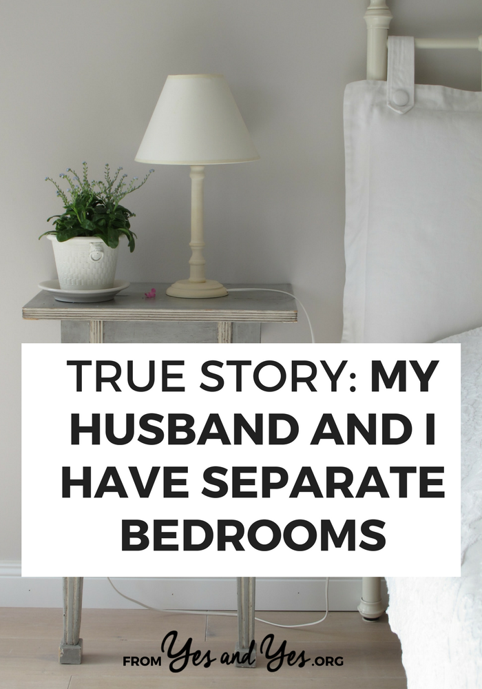 Are you married with separate bedrooms? Do you WISH you had separate bedrooms? Click through for one woman's story and tips for how to get your own damn room!