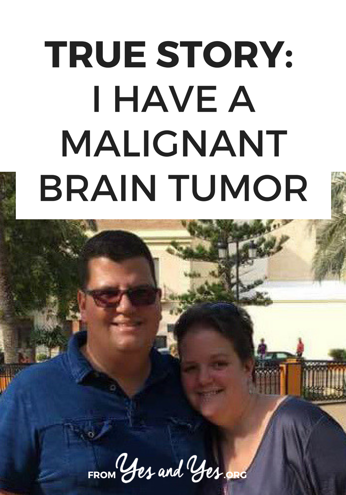 How would you react if, at age 39, you were told you had a malignant brain tumor? And that you had 12-18 months to live? Click through for one woman's story of dealing with brain cancer.
