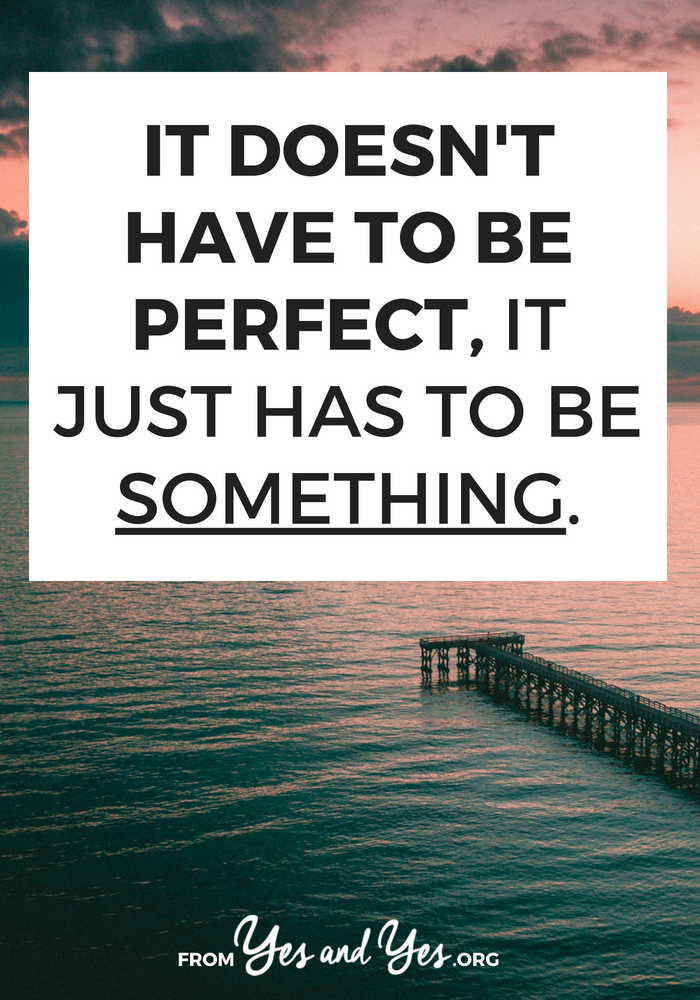 Supporting friends, running a business, making good choices, being politically involved - it doesn't have to be perfect. Doing anything is better than doing nothing. Click through for a pep talk and good ideas!