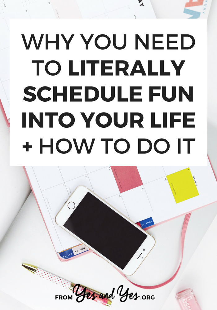 Want more fun in your life? Schedule fun! This might not sound like a budgeting tip, but having more fun makes like on a budget more bearable!