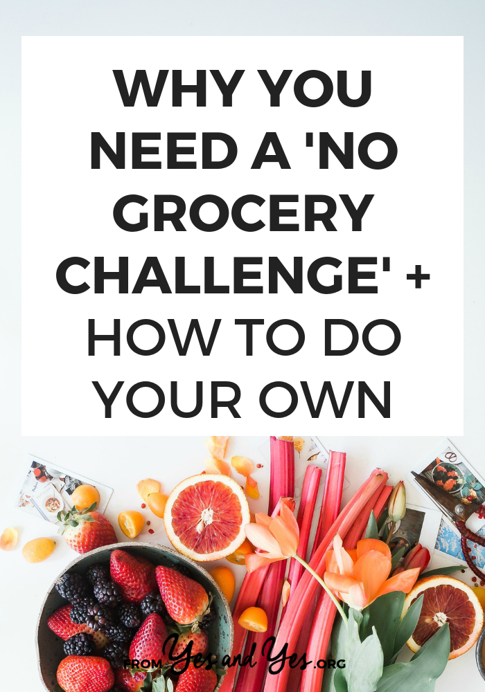 Want to reduce food waste while saving money, time, and eating great meals? WELL DUH OBVIOUSLY. You need to do a No Grocery Challenge!
